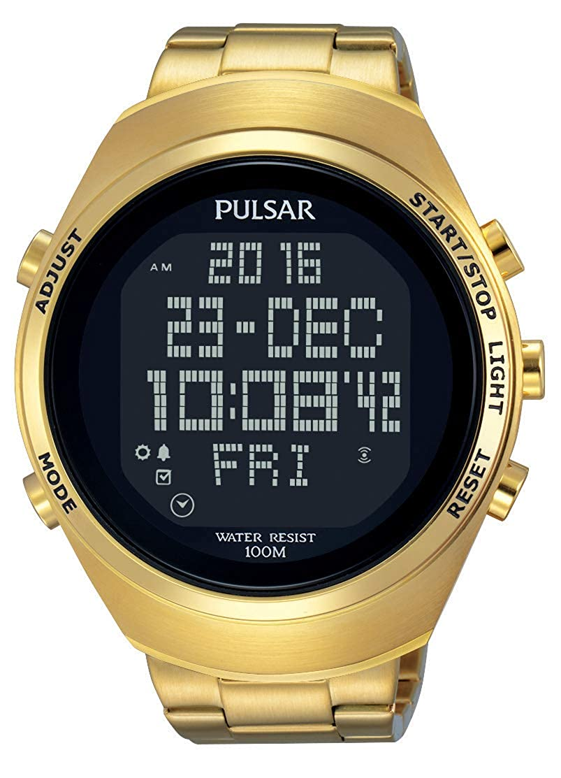 Pulsar Reloj Digital para Unisex de Analogico con Correa en Chapado en Acero Inoxidable PQ2056X1
