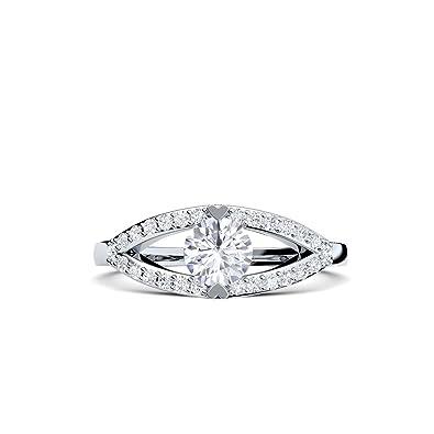 Compromiso anillos con circonita + estuche! Anillo de ...