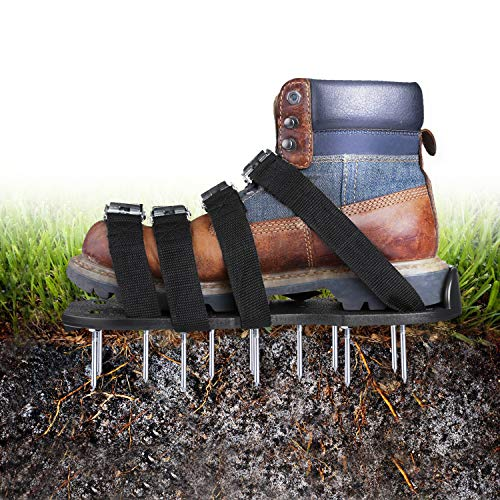 TACKLIFE Lawn Aerator Shoes, Heavy Duty Spiked Sole Design, Spiked Aerating Lawn Sandals with 26 Spikes and 8 Adjustable Straps, One Size for Aerating Your Yard or Lawn