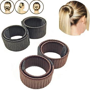 2pcs Moda Disco de peluquería pelo herramienta una peluca pasador para pelo anillo Noble francés Twist