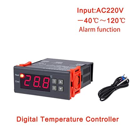 Topker us MH1210B AC220V Digital Thermostat Electronic Temperature Control Table Refrigeration Heating Controller Thermal Regulator