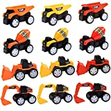 Construction Trucks for Kids Boys Girls - 12 Pack (2018 New) Toy Construction Trucks Dump Truck Beach Toys Truck Play Set for Boys, Construction Party Supplies Cake Topper Best Toy for 3 4 5+ Year Old