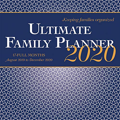 Ultimate Family Planner 2020 12 x 12 Inch Monthly Square Wall Calendar with Foil Stamped Cover by Wyman Publishing, Stationery Organizer