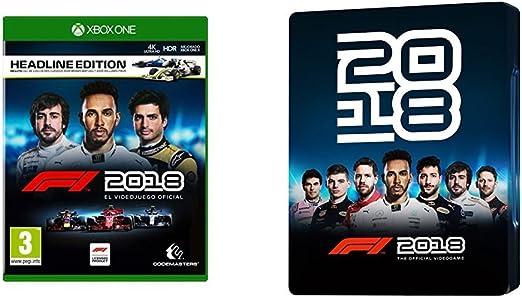 F1 2018 Headline Edition + Steelbook (Xbox One): Amazon.es ...