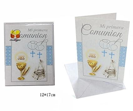 Tarjeta Felicitacion Comunión,12 * 17cm: Amazon.es: Oficina ...