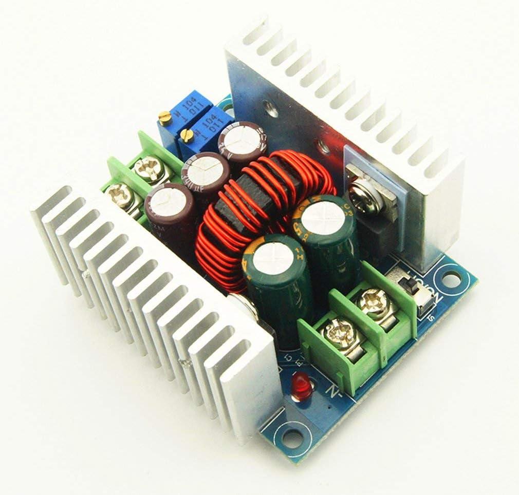 LeobooneDC 300W 20A CC CV Courant constant R/églable Convertisseur de tension Buck Module /électronique portable Accessoires