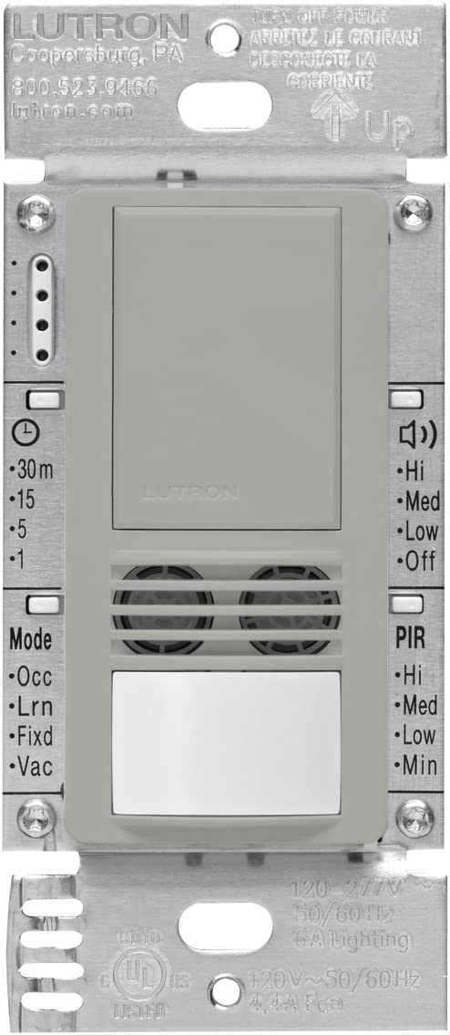 Lutron Maestro Dual Tech Occupancy Sensor Switch 6 Amp 3-Way//Multi-Location Neutral Required MS-B102-IV Ivory