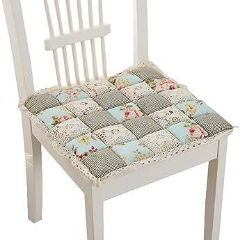 Amazon.com: Peacewish - Cojín grueso para silla de cocina ...