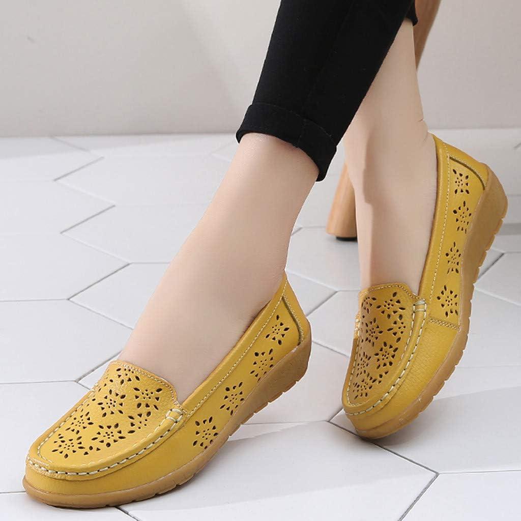 Chaussures De Bateau Femme /éT/é Mocassins Cuir Loafers Confort Respirantes L/éGer Vintage Mode Tendance Pas Cher Plates Slip on Loafers