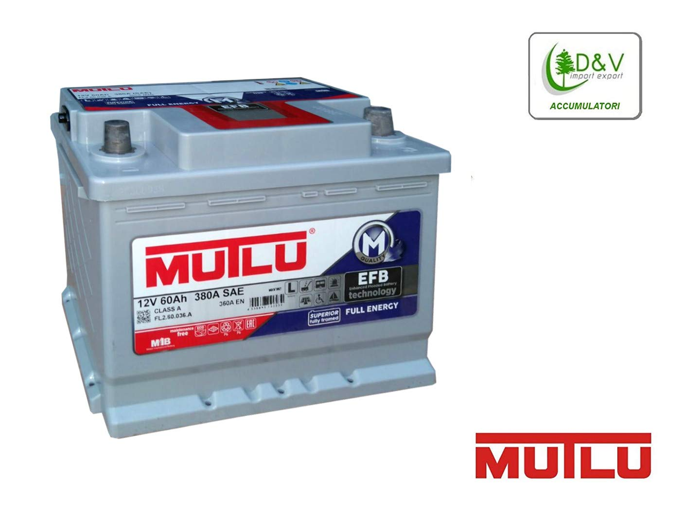 BATTERIA PREMIUM BRAND MUTLU 60Ah 360A (EN) 12V EFB DEEP CYCLE FULL ENERGY