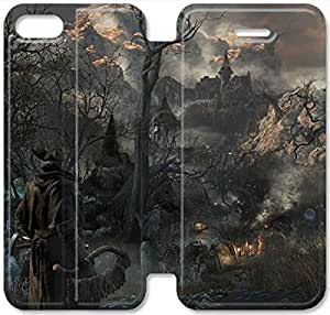 Screen Protection Phone Cases Bloodborne-7 iPhone 5 5S Leather Flip Case