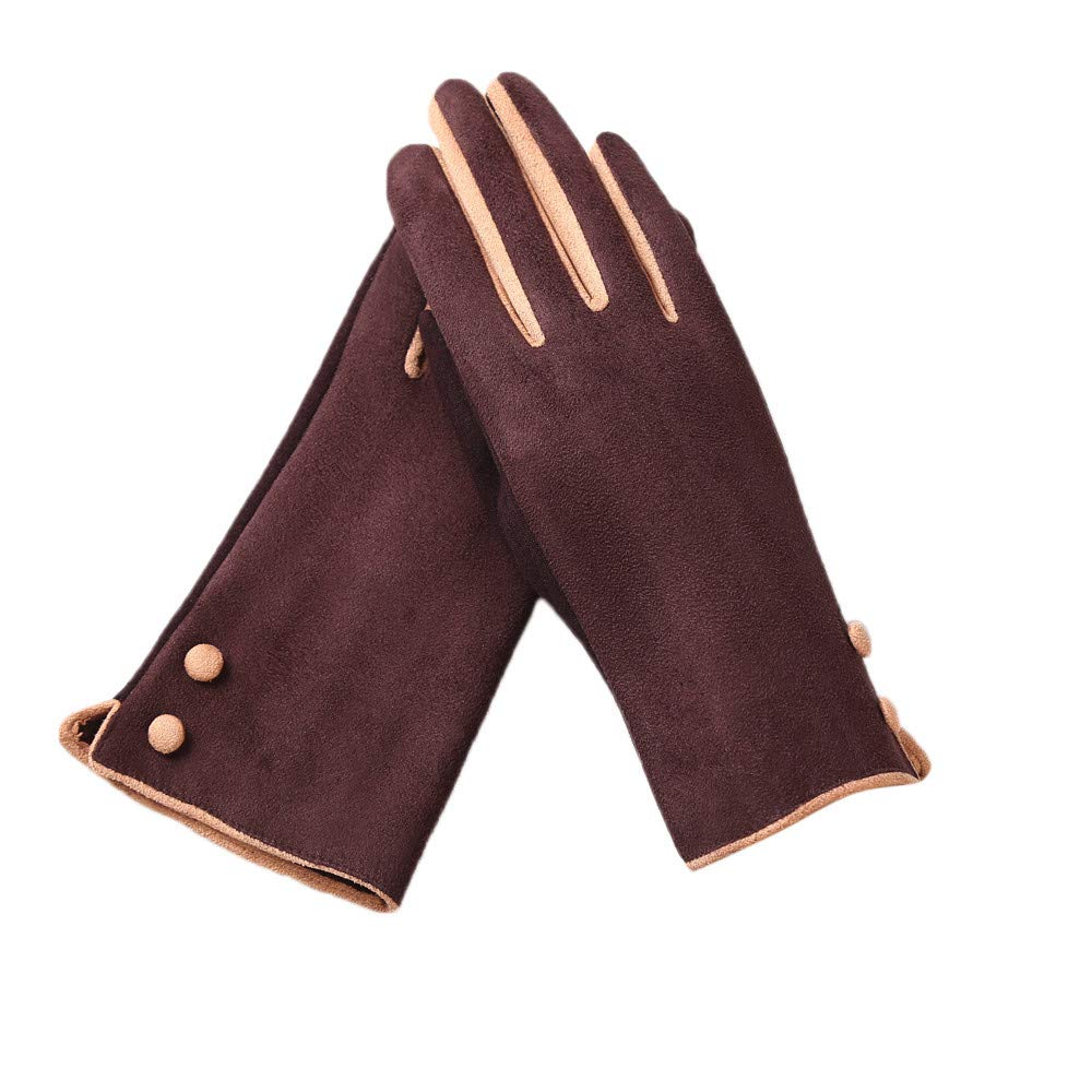 Soft Full Thick Gloves,Clement Women's Fashion Winter Solid Full Finger Hand Outdoor Sport Warm Gloves for Running, Cycling