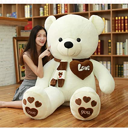 Soft and cute Plush Teddy Bear with Heart I Love You best gift for lovers
