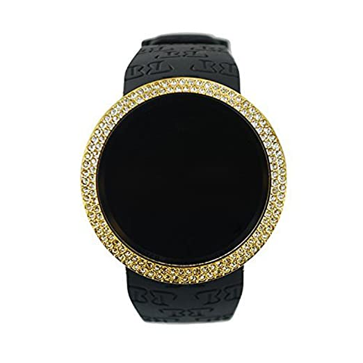 Amazon Techno Pave Iced Out Bling Lab Diamond Gold Black