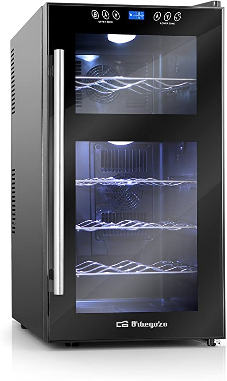 Opinión sobre Orbegozo VT 1810 – Vinoteca 18 botellas, 52 litros de capacidad, temperatura regulable, panel táctl, display digital, luz LED, 130 W