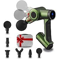 Pistola de masaje regalos para el día del padre con brazo ajustable giratorio de 60 °, masajeador muscular de tejido…