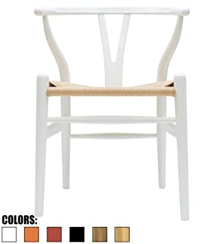 2xhome   White   Wishbone Wood Arm Chair Armchair Modern White With Natural  Woven Seat Dining