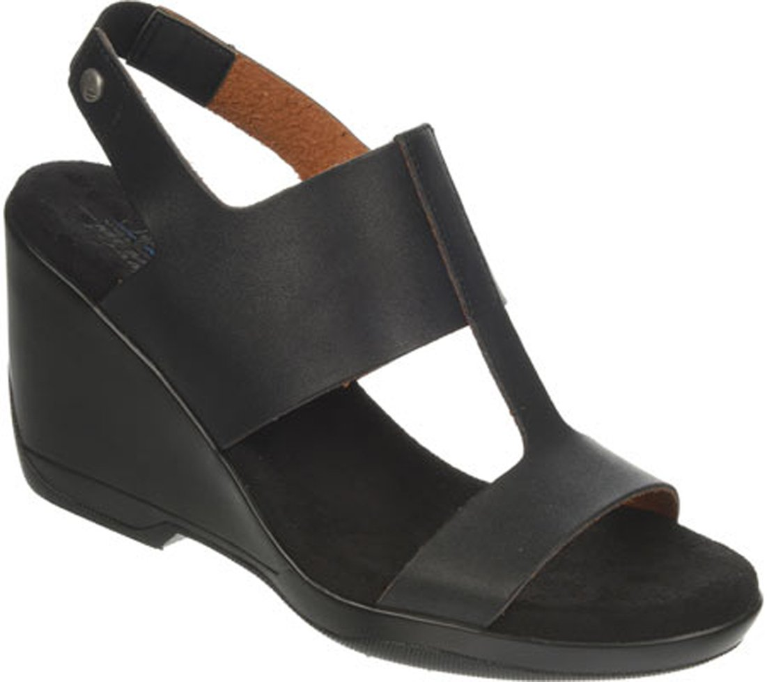 LifeStride Women's Everafter Wedge Sandal B00NIXGMCG 7 B(M) US Black Polyurethane