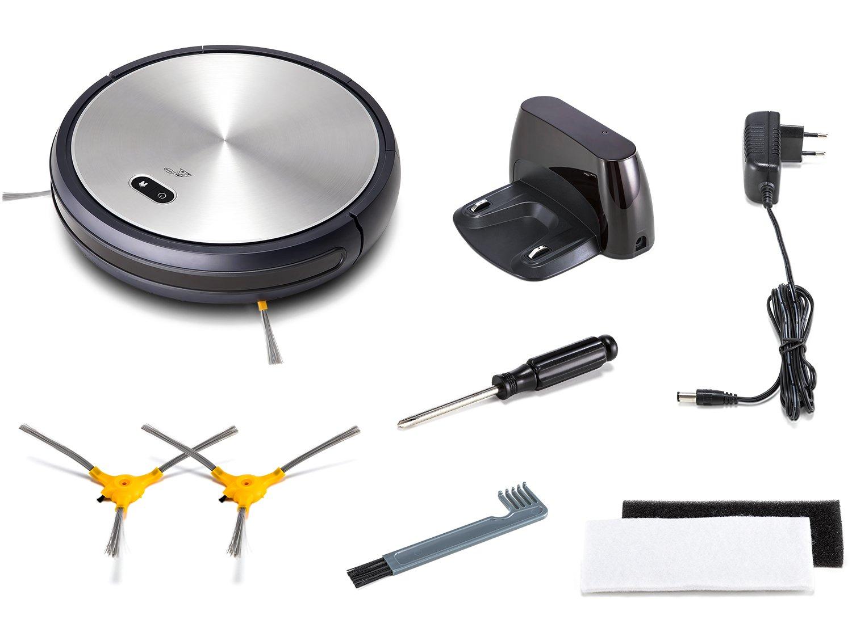 puppyoo wp650 Robot aspirador, aspiración potente, limpieza Auto, auto-recharge WiFi para los pelo de animales, alfombra, piso: Amazon.es: Hogar
