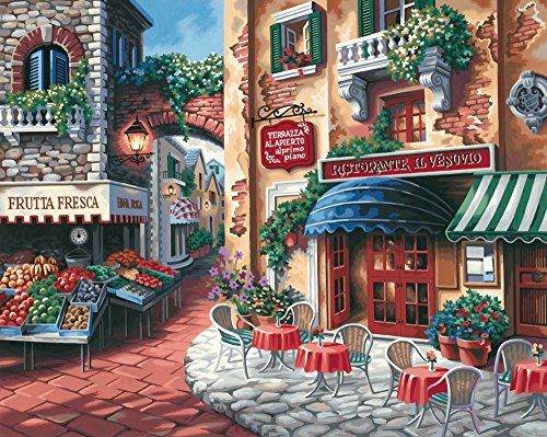 Dimensions Taste of Italy Paint by Numbers for Adults, 20'' W x 16'' L