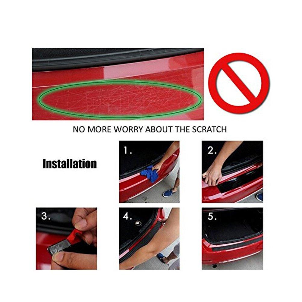 winomo 104/x 8/cm universal Auto Trunk goma Umbral de Puerta Protecci/ón para Auto Coche SUV Truck