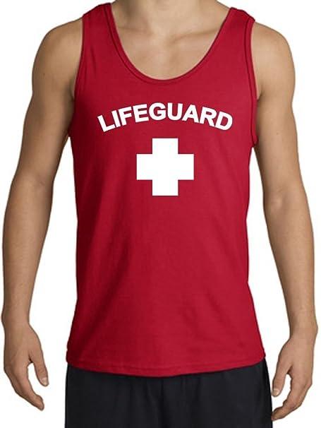 59418bcb2d7 Lifeguard Tanktop Muscle Beach Tee Tank Top Shirt - Red  Amazon.ca ...