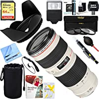 Canon EF 70-200mm F/4.0 L USM Lens + 64GB Ultimate Filter & Flash Photography Bundle