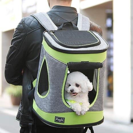 Petsfit tela portador plegable del animal doméstico para los perros y los gatos, color gris