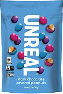 product image for UNREAL Dark Chocolate Peanut Gems | Non-GMO, Vegan Certified, Colors from Nature | 3 Bags