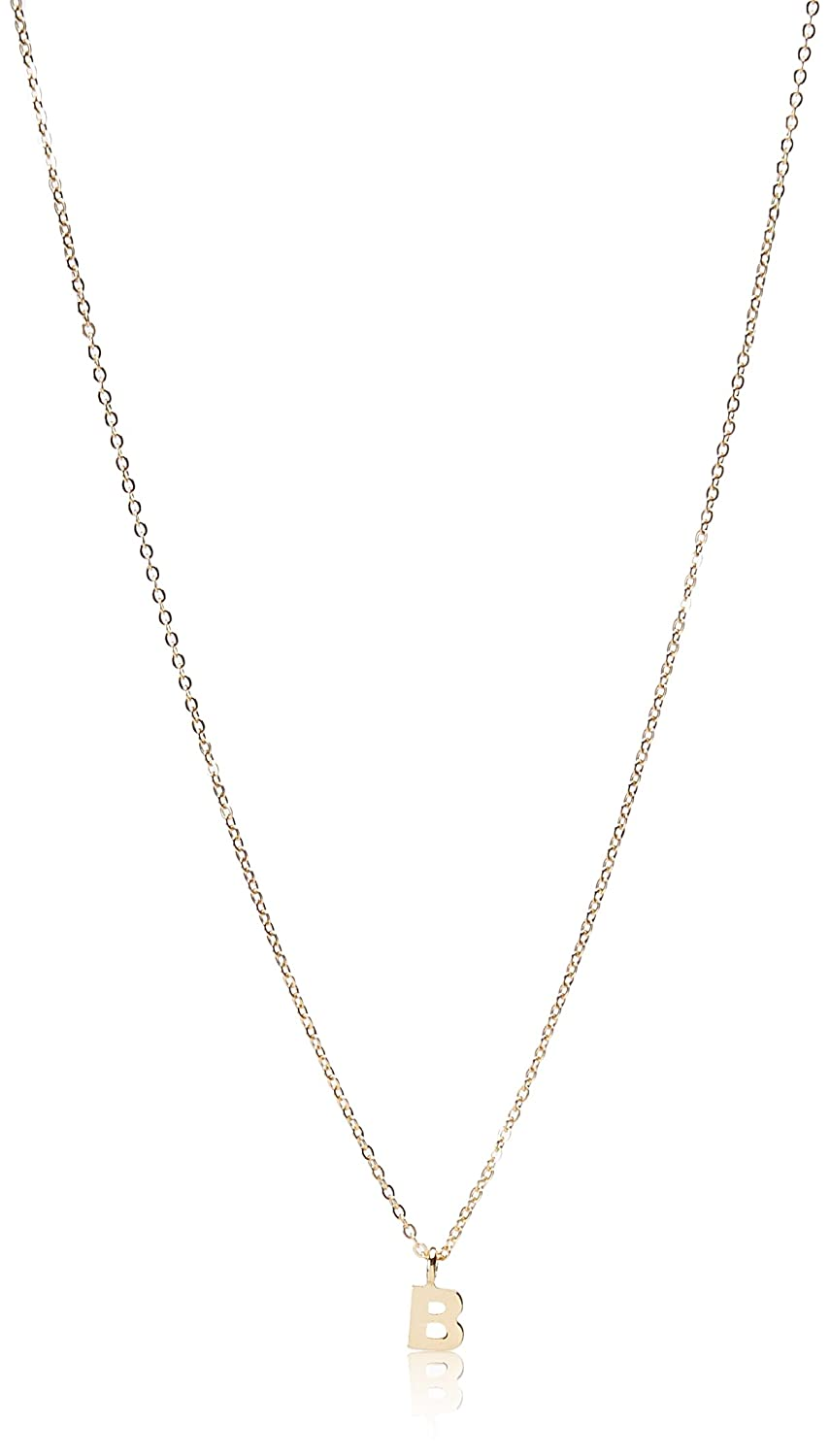 1928 Jewelry Gold-Tone 7mm Initial Pendant Necklace, 20 20 44559