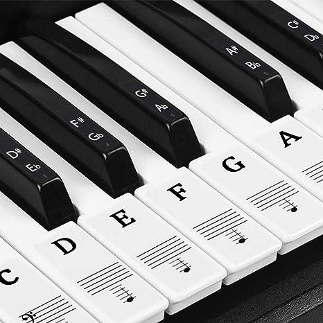 Natuce piano pegatinas para 37/49/54/61/88 Teclas, Pegatinas