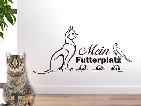 Wandtattoo Katze Fressecke Reuniecollegenoetsele