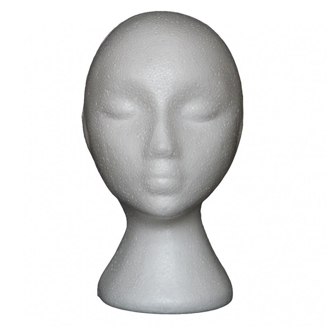 astratto modello unisex di polistirolo espanso manichino manichino testa arte lavoro pittura per donne uomini parrucca capelli cappello occhiali espositore Hair styling formazione Brussels08
