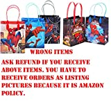Spiderman Party Favor Goodie Small Gift Bags 12