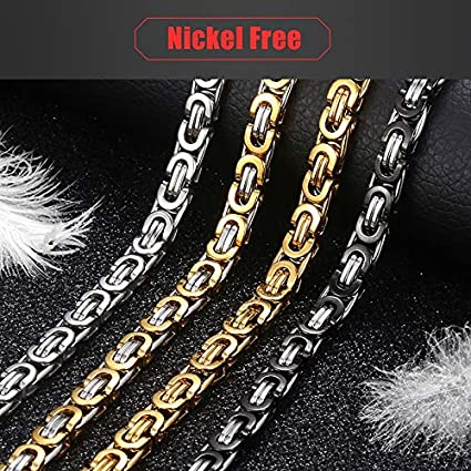Buntha.winee7098 Chain Necklace for Men Stainless Steel Gold Silver Black Link Mens Necklaces Chains Fashion Jewelry