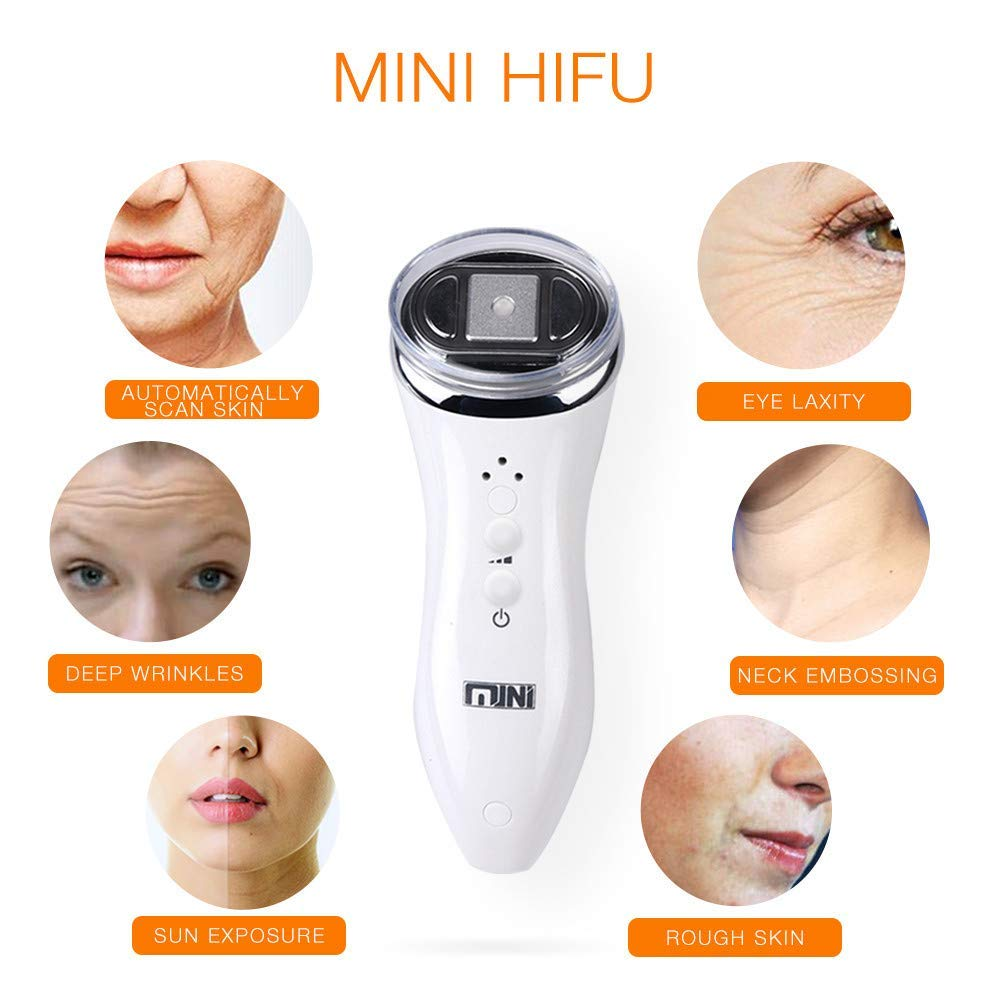 UMTYPE Mini HIFU Effects Facial Skin Care Machine, Face Lift RF LED Skin Re juvenation Machine For Facial Lifting Tightening by UMTYPE