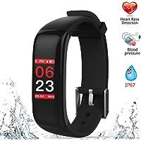 OMNiX™ P1 Plus Sports Band Color Display Waterproof Heart Rate Blood Pressure Monitor Smart Bracelet