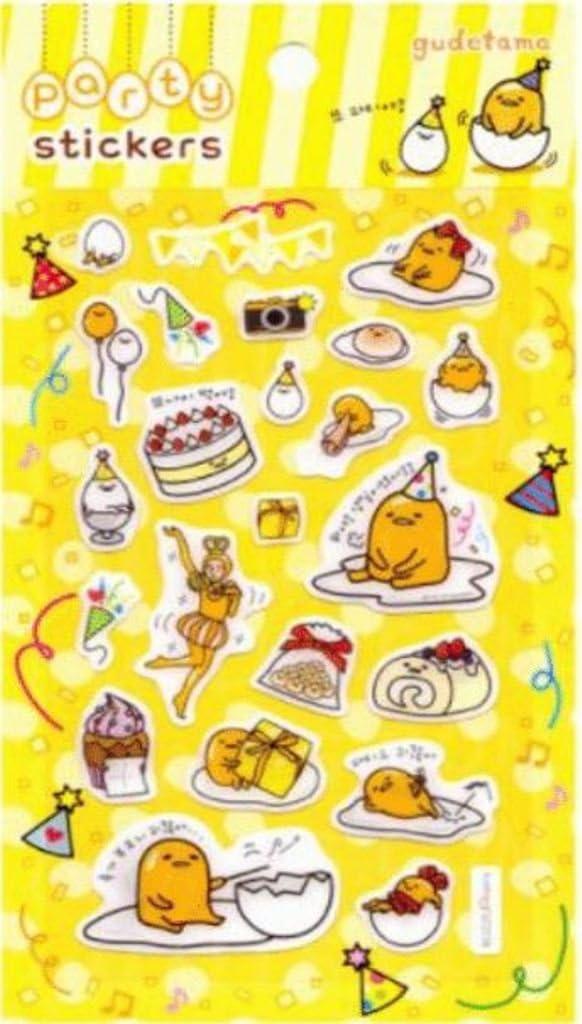Gudetama Party Sticker Funny Sticker