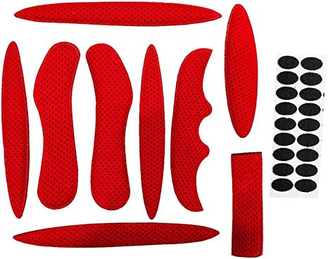 KangOnline Kit de rembourrage en mousse pour casque de v/élo avec doublure anti-collision et protection en mousse viscose