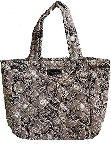 Marc Jacobs Quilted Shoulder Bag - Marc Jacobs Quilted Paisley Medium Tote Bag, Navy/Grey
