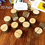 Aimyoo Wooden Card Holders Table Number Stands for Home Party Decoration Wedding Favors (Pack of 20)
