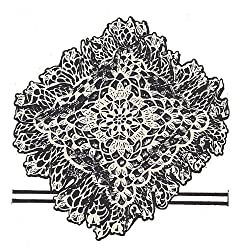 Vintage Crochet PATTERN to make - Lacy Square Doily Pincushion Potpourri Sachet. NOT a finished item. This is a pattern and/or instructions to make the item only.