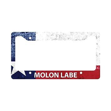 Molon Labe Texas Flag License Plate Frame 2nd Amendment NRA Gun ...