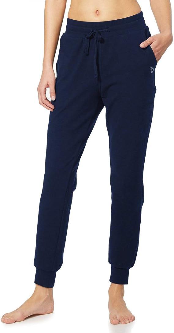 BALEAF Women's Active Yoga Sweatpants Workout Joggers Pants Cotton  best women's joggers Lounge Sweat Pants with Pockets Navy Blue Size L