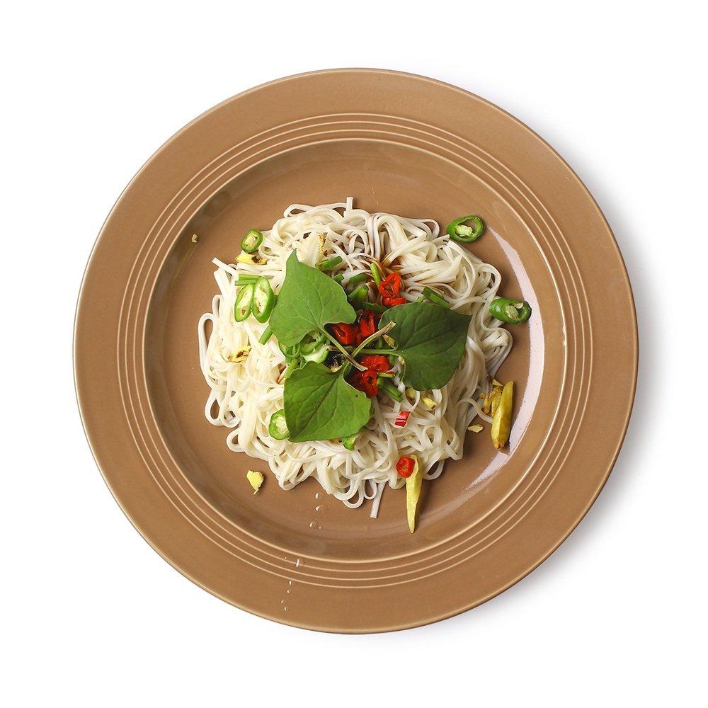 Bowl Plate Europäische Steak Platte/Western Gewinde Nudelgericht/Disc/Home Dish/Dessert Obst Flache Platte/Keramikplatte (größe : 22  2.5cm)