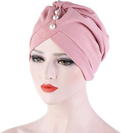 TININNA Gorro Mujer de Bambú para quimio y oncológicos,Turbante de algodón Pañuelo en la Cabeza Abrigo Sombreros para quimioterapia Pérdida de Cabello Sueño,Rosa: Amazon.es: Hogar