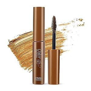 ETUDE HOUSE Color My Brows 4.5g #4 Natural Brown - Eyebrow Mascara, Natural Eyebrow Makeup