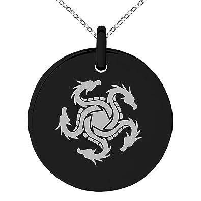 Amazon Black Stainless Steel Greek Mythology Hydra Symbol