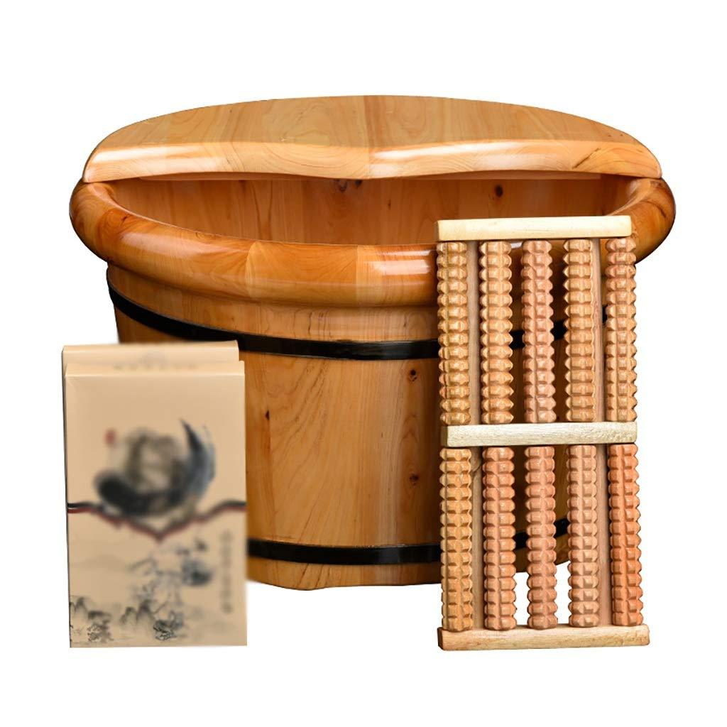 【限定製作】 フットマッサージャーフットバス 足浴槽 フットバスバレル 木製の足のバケツ 木製の足のバケツ フットバスバレル A 足のマッサージフットバス 25x40cm A B07GDBPZK7, 床工房:2ee01427 --- arianechie.dominiotemporario.com