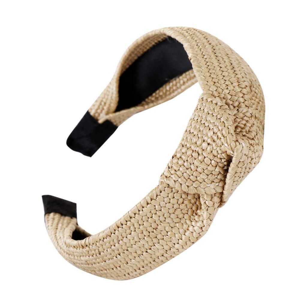 Harpily Capelli delle Donne Hairband Dellarco Del Nodo Fascia per Capelli Donne Paglia Intrecciata per Ragazze Dolci E Donna